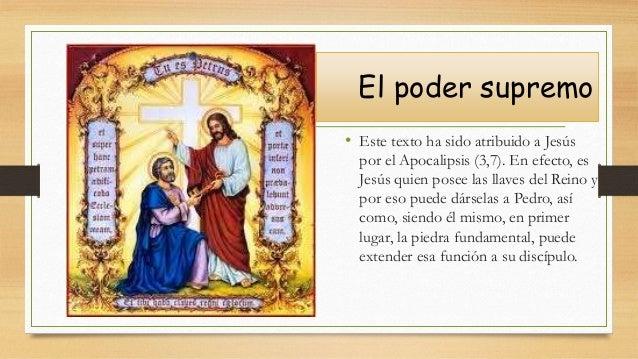 El poder supremo • Este texto ha sido atribuido a Jesús por el Apocalipsis (3,7). En efecto, es Jesús quien posee las llav...