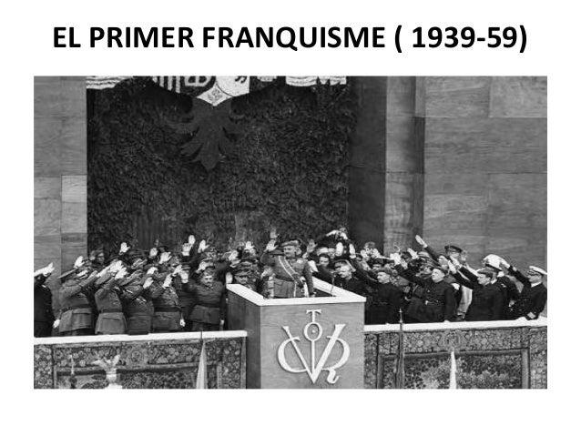 EL PRIMER FRANQUISME ( 1939-59)