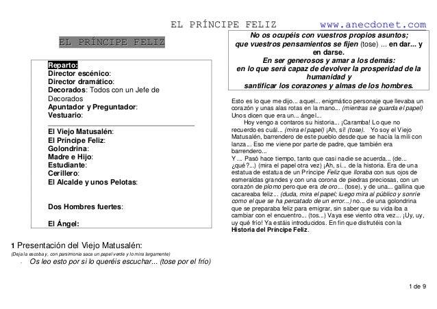 EELL PPRRÍÍNNCCIIPPEE FFEELLIIZZ wwwwww..aanneeccddoonneett..ccoomm 1 de 9 EELL PPRRÍÍNNCCIIPPEE FFEELLIIZZ Reparto: Direc...