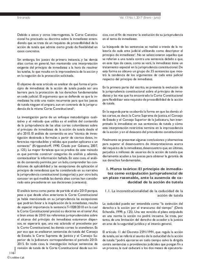 El principio de inmediatez de la acción de tutela Slide 3