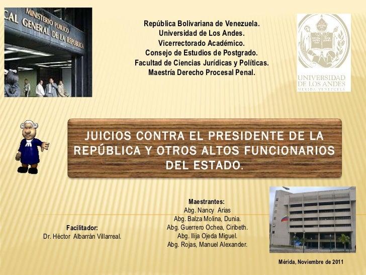 República Bolivariana de Venezuela. Universidad de Los Andes. Vicerrectorado Académico. Consejo de Estudios de Postgrado. ...