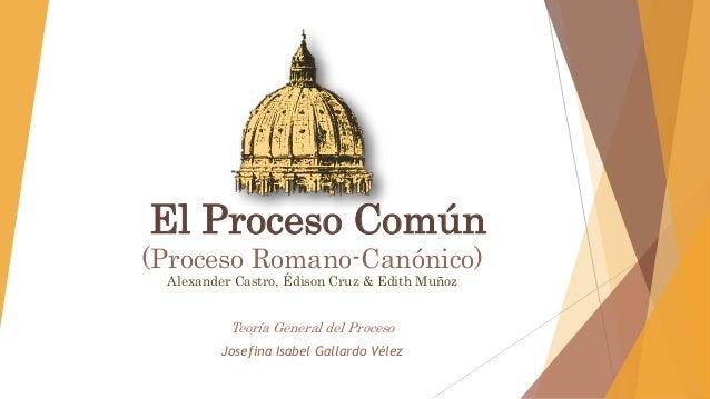 Matrimonio Romano Canonico : El proceso común romano canónico