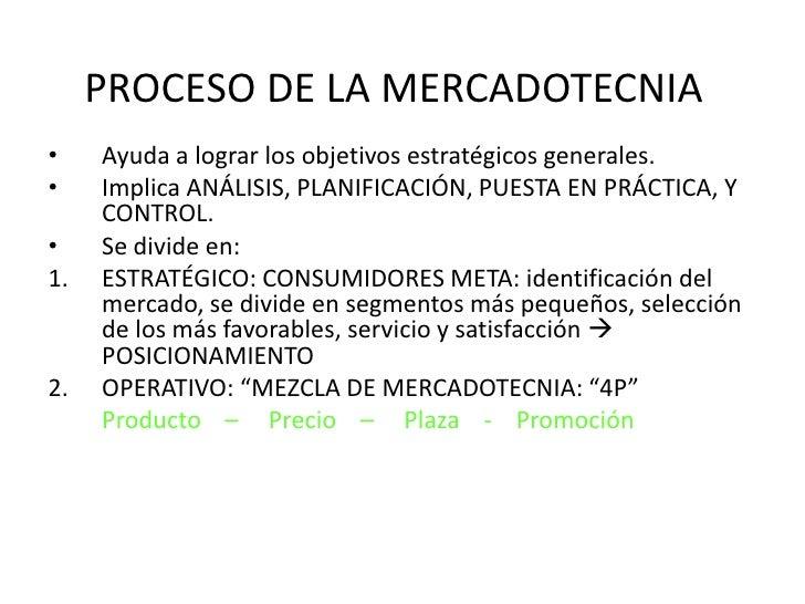 PROCESO DE LA MERCADOTECNIA<br />Ayuda a lograr los objetivos estratégicos generales.<br />Implica ANÁLISIS, PLANIFICACIÓN...
