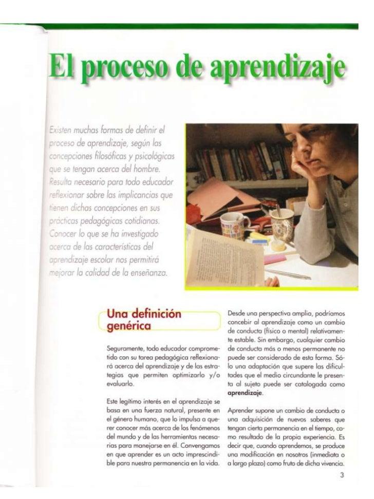 El  Proceso De  Aprendizaje