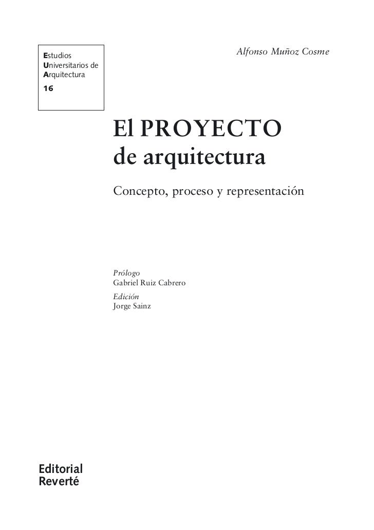 El Proceso De Arquitectura