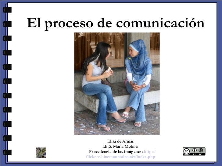 El proceso de comunicación Elisa de Armas I.E.S. María Moliner  Procedencia de las imágenes:   http :// flickrcc.bluemo...