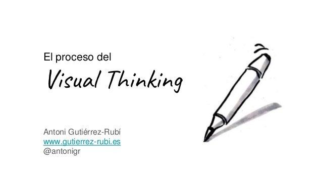 El proceso del Visual Thinking Antoni Gutiérrez-Rubí www.gutierrez-rubi.es @antonigr