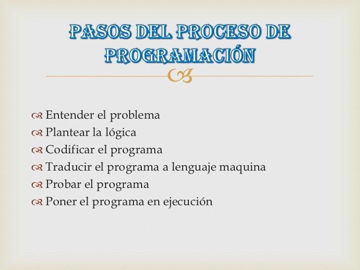 El Proceso De Programacion