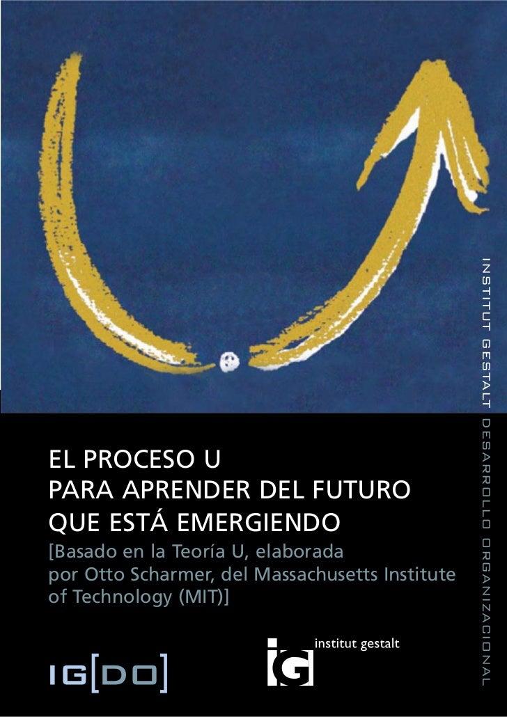 INSTITUT GESTALT DESARROLLO ORGANIZACIONALEL PROCESO UPARA APRENDER DEL FUTUROQUE ESTÁ EMERGIENDO[Basado en la Teoría U, e...