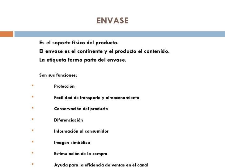 El producto - Continente y contenido ...