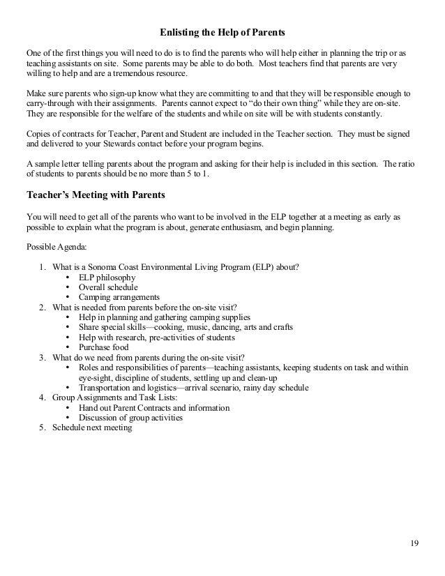 Environmental Living Program Teacher's Manual