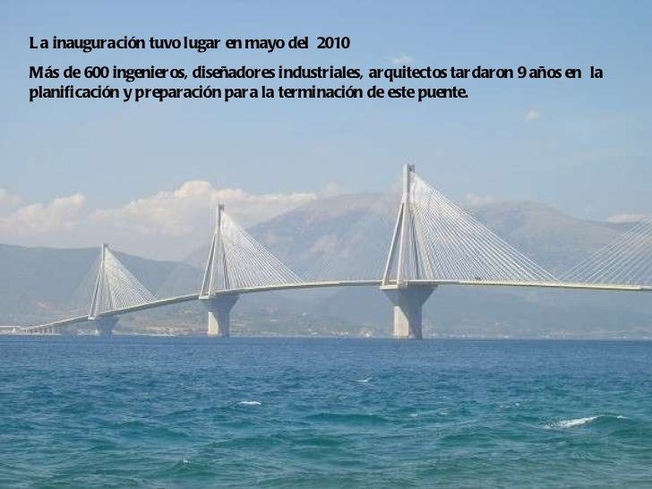 La inauguración tuvo lugar en mayo del  2010  Más de 600 ingenieros, diseñadores industriales, arquitectos tardaron 9 años...