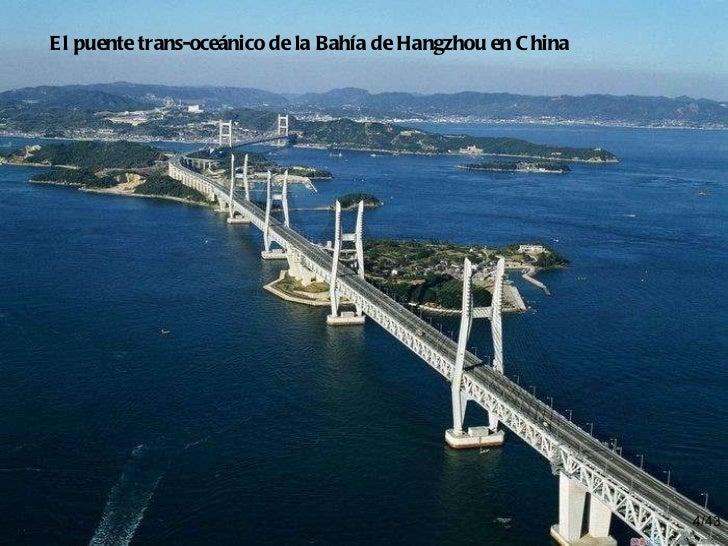 /43 El puente trans-oceánico de la Bahía de Hangzhou en China