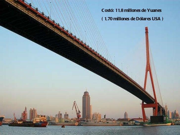 Costó: 11,8 millones de Yuanes ( 1,70 millones de Dólares USA )