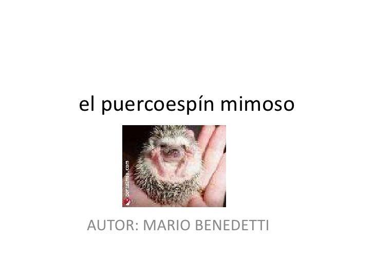 el puercoespín mimoso <br />AUTOR: MARIO BENEDETTI<br />