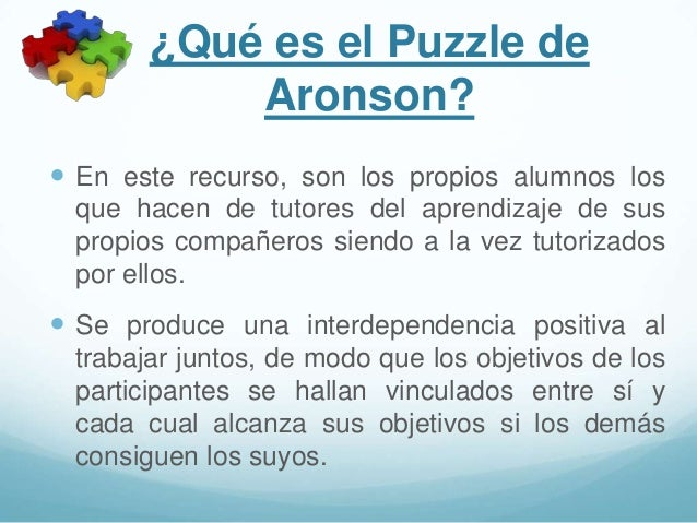 El puzzle de aronson Slide 2