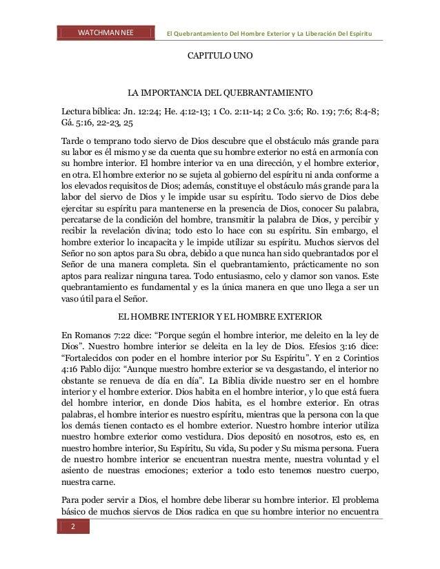WATCHMAN NEE El Quebrantamiento Del Hombre Exterior y La Liberación Del Espíritu 2 CAPITULO UNO LA IMPORTANCIA DEL QUEBRAN...