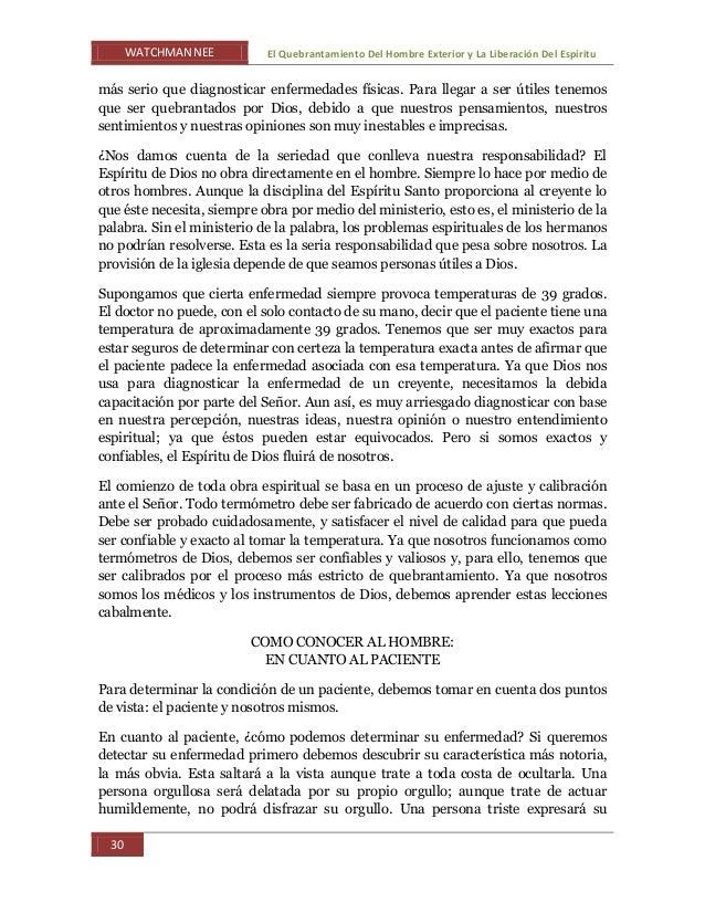 WATCHMAN NEE El Quebrantamiento Del Hombre Exterior y La Liberación Del Espíritu 30 más serio que diagnosticar enfermedade...