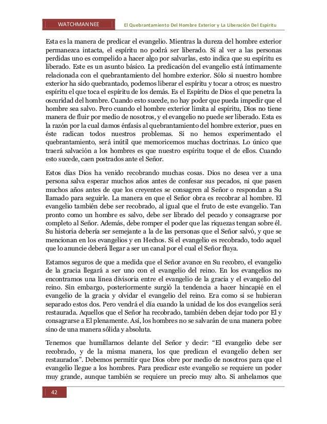 El quebrantar del y la libracion del espiritu watchman nee by fidel