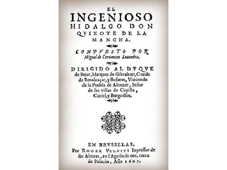 CONTEXTO HISTÓRICO DON QUIJOTE DE LA MANCHA