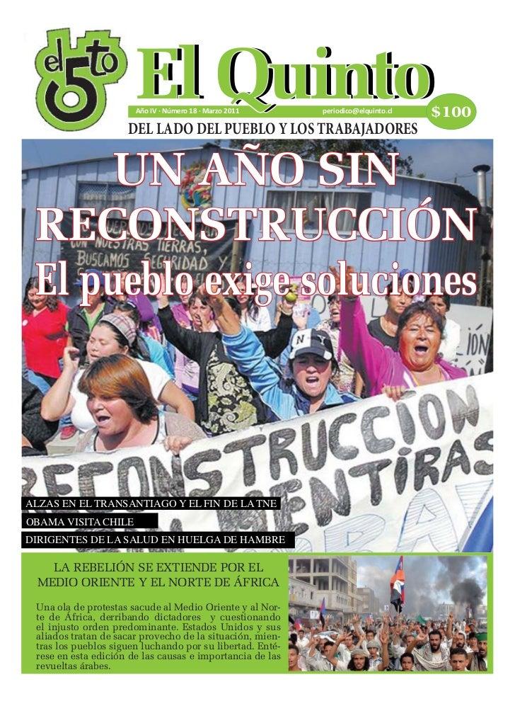 Periódico EL QUINTO / Año IV · Número 18 · Marzo 2011                                             1                       ...