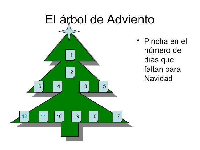 El árbol de Adviento• Pincha en elnúmero dedías quefaltan paraNavidad12 11 10 9 8 74 3 5126