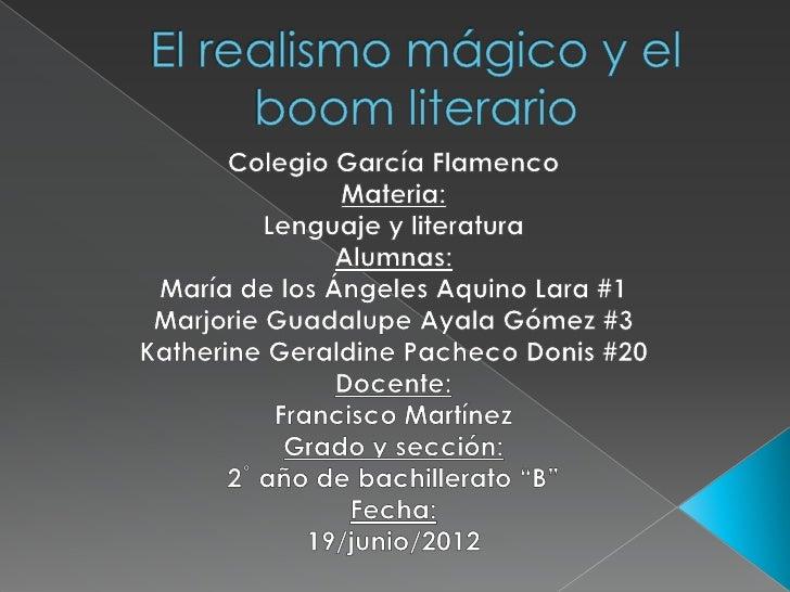    Razone por que se afirma que la realidad y la magia se    contraponen    Podemos inferir que el realismo es un movimie...