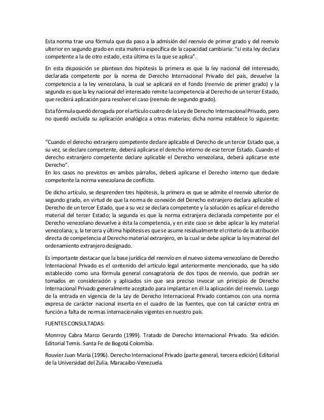 El reenvio en el derecho internacional privado for Validez acuerdo privado clausula suelo