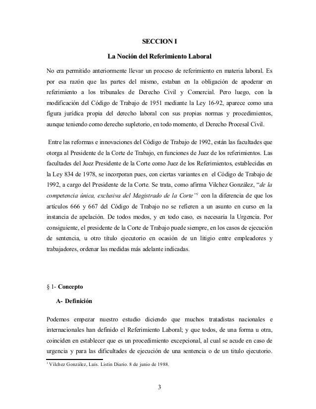 El referimiento en materia laboral for Consulta demanda de empleo