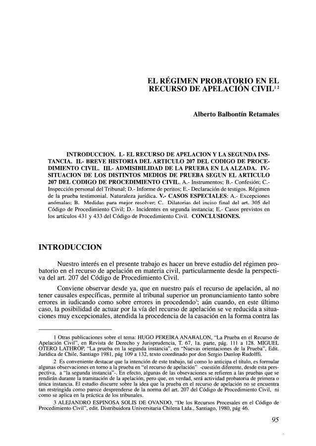 el regimen probatorio en la apelacion civiliafjsr 1 638