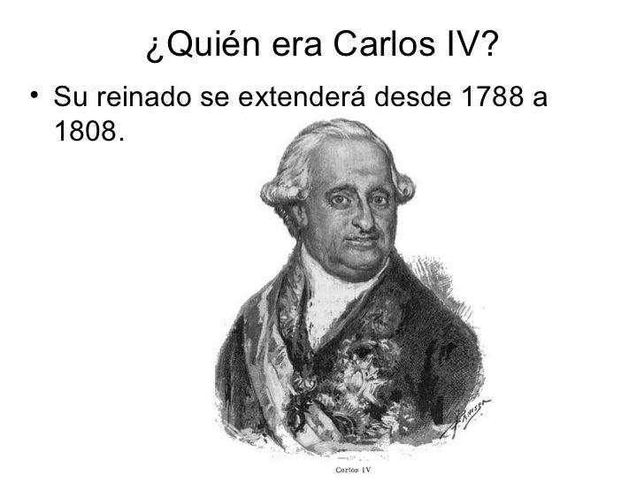El reinado de Carlos IV