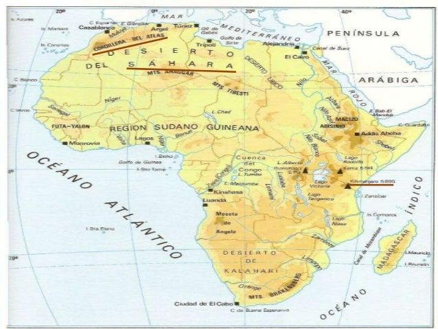 AMÉRICA• En América del Norte encontramos grandes  sistemas montañosos como las Montañas  Rocosas.• En América del Sur des...