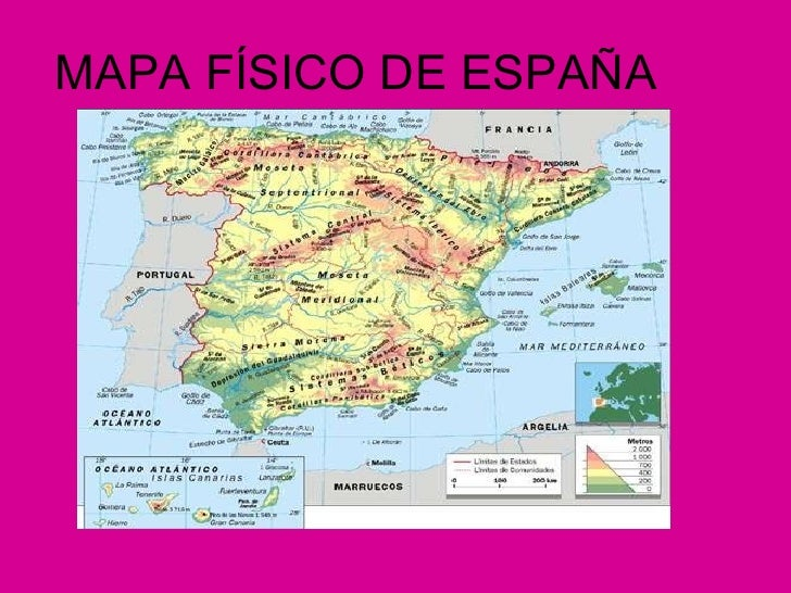 Mapa Picos De España.El Relieve De Espana