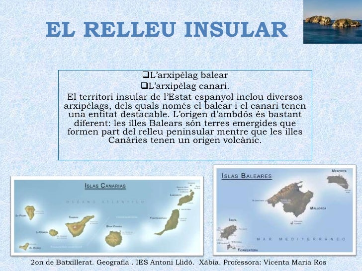EL RELLEU INSULAR<br /><ul><li>L'arxipèlag balear