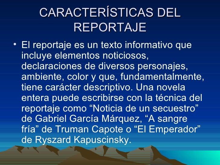 El reportaje for Cuales son las caracteristicas de un mural
