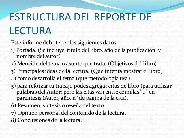 El Reporte De Lectura Nuevo