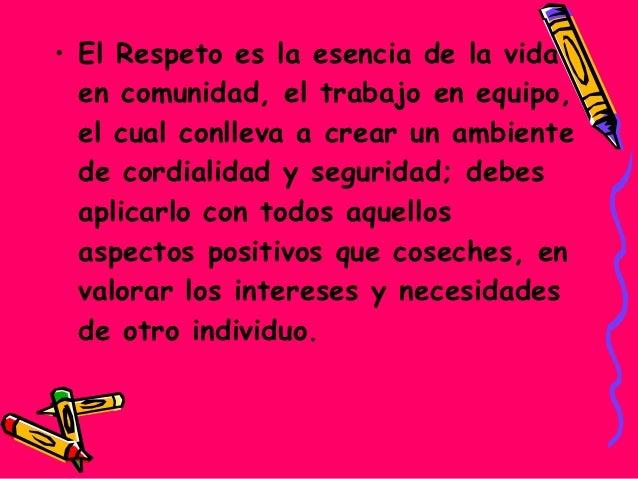 Soy Respetuoso  cuando..1.Me  dirijo correctamente y respeto laopinión de mis compañeros, amigos,Familia y maestros.2.Ut...