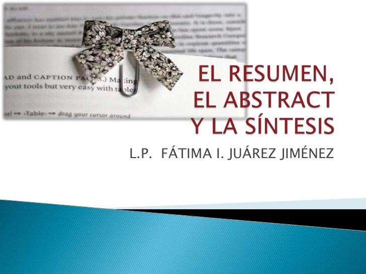 L.P. FÁTIMA I. JUÁREZ JIMÉNEZ