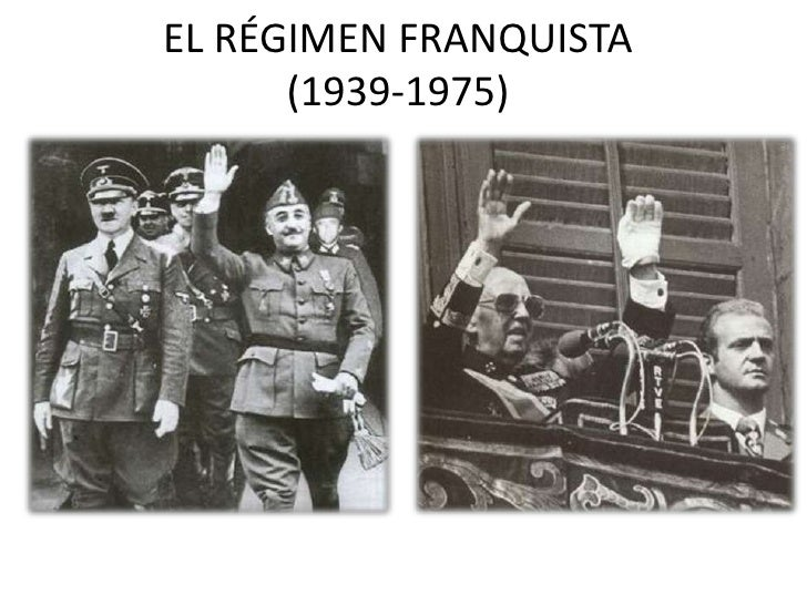 EL RÉGIMEN FRANQUISTA      (1939-1975)