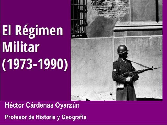 Héctor Cárdenas Oyarzún Profesor de Historia y Geografía