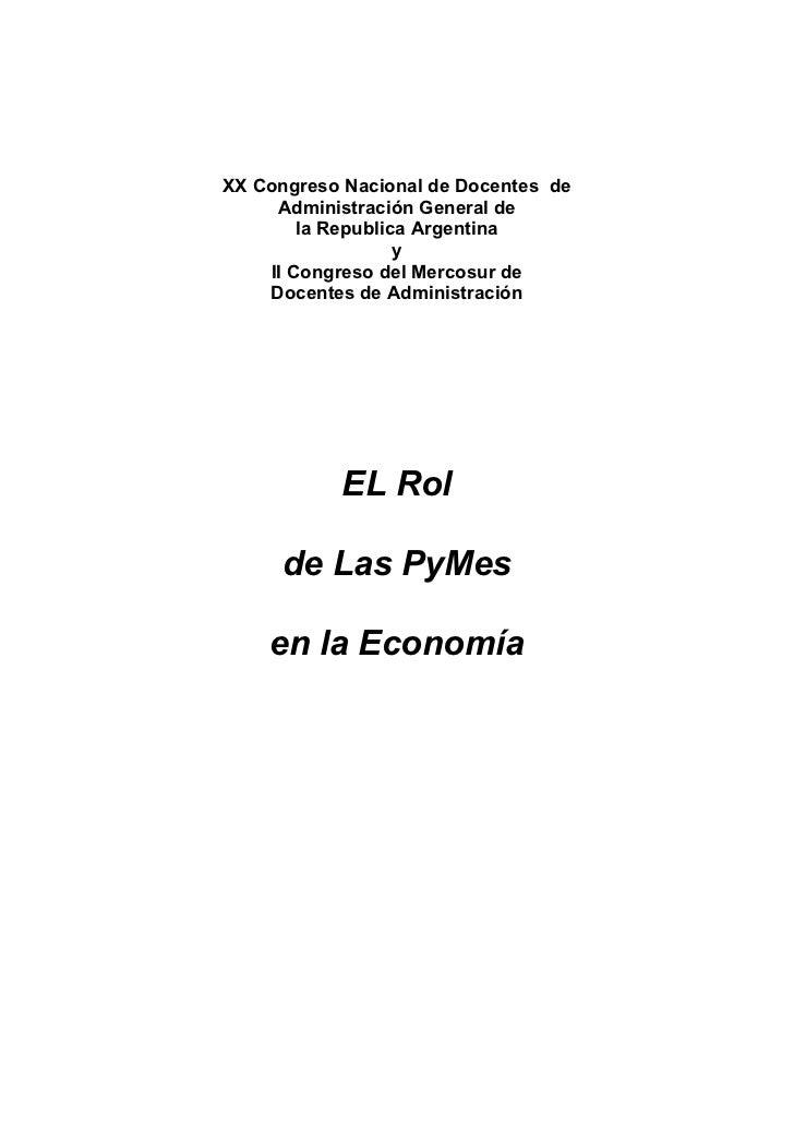 XX Congreso Nacional de Docentes de     Administración General de        la Republica Argentina                   y    II ...