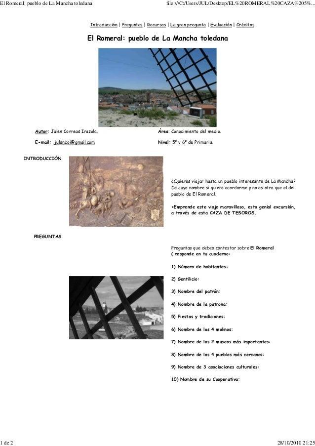 El Romeral: pueblo de La Mancha toledana file:///C:/Users/JUL/Desktop/EL%20ROMERAL%20CAZA%205%... 1 de 2 28/10/2010 21:25 ...