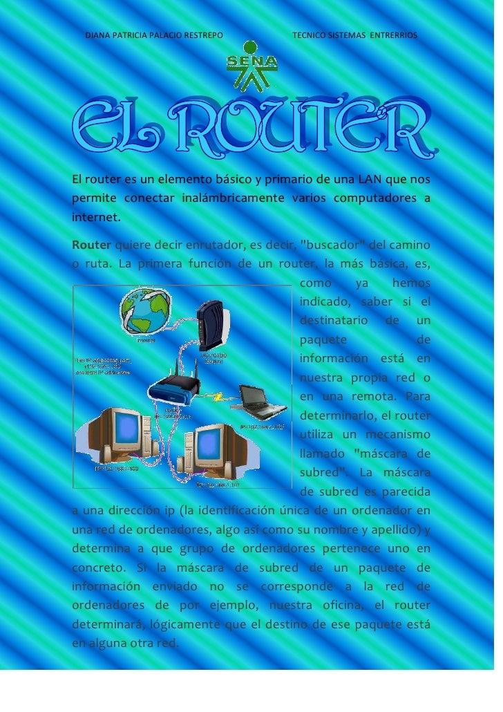 El router es un elemento básico y primario de una LAN que nos permite conectar inalámbricamente varios computadores a inte...