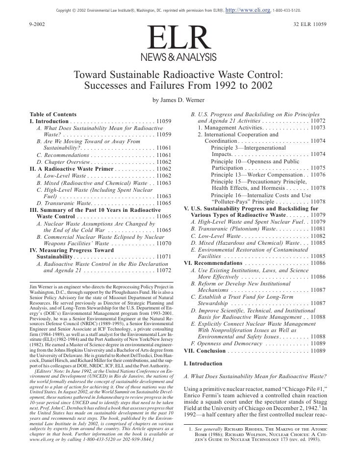 Copyright © 2002 Environmental Law Institute®, Washington, DC. reprinted with permission from ELR®, http://www.eli.org, 1-...