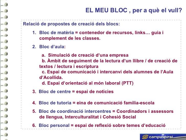 Els blocs i la seva aplicació didàctica Slide 3