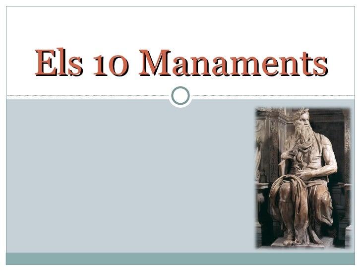Els 10 Manaments