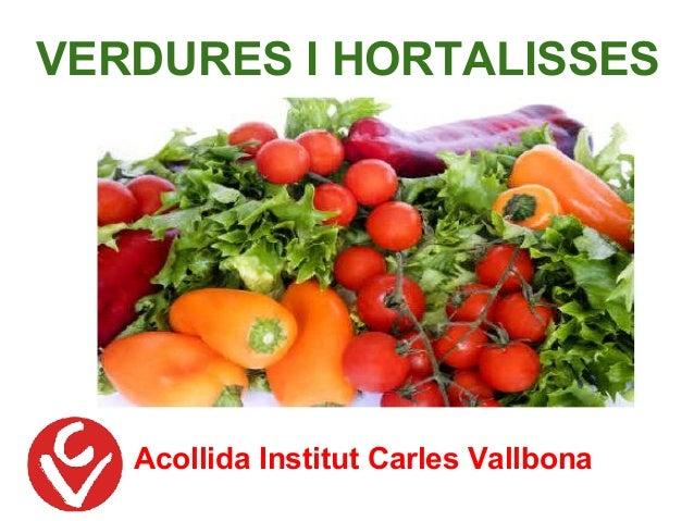 Acollida Institut Carles Vallbona VERDURES I HORTALISSES