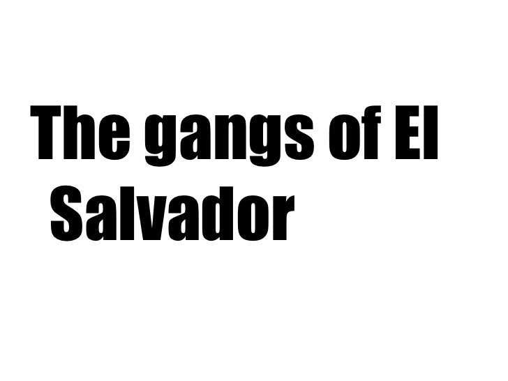 <ul><li>The gangs of El Salvador </li></ul>
