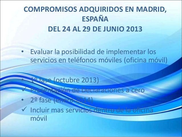 Presentaci n pa s el salvador declaraci n renta sugerida - Oficinas de atencion a la ciudadania linea madrid ...