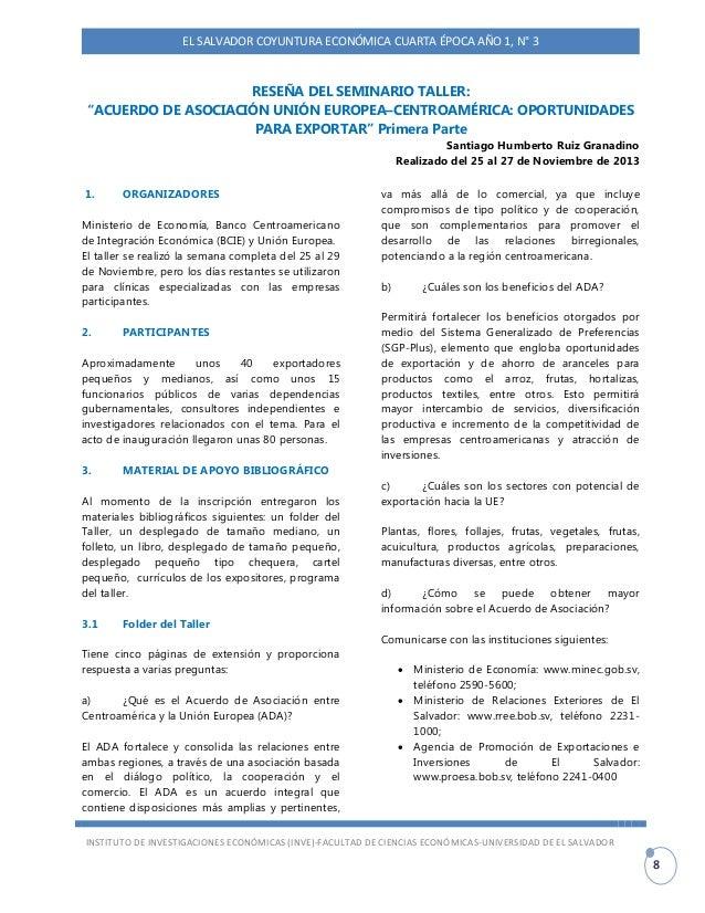 El Salvador Coyuntura Econ Mica Primer Trimestre 2014
